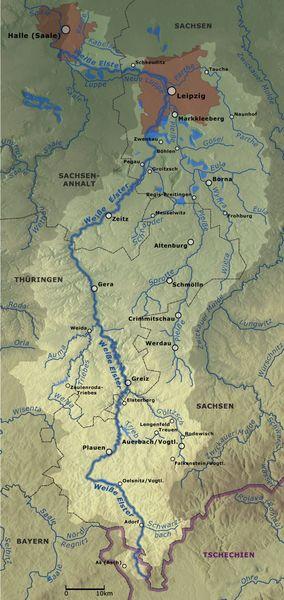 Die Flusslandschaft des Jahres 2020/2021: Weiße Elster